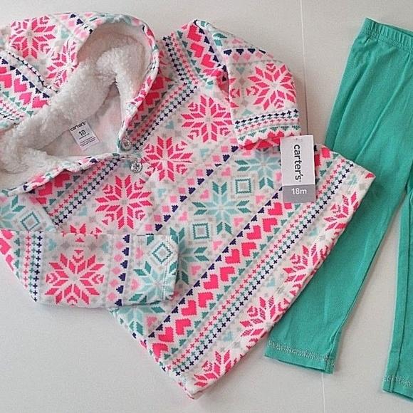5819c070e Carter's Matching Sets | Carters Girls Set Fleece Hoodie Leggings ...